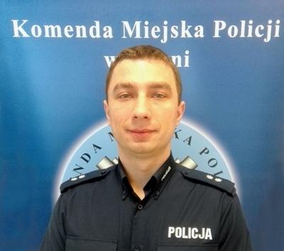nadkom. Michał Rusak - Rzecznik Prasowy Komendanta Miejskiego Policji w Gdyni