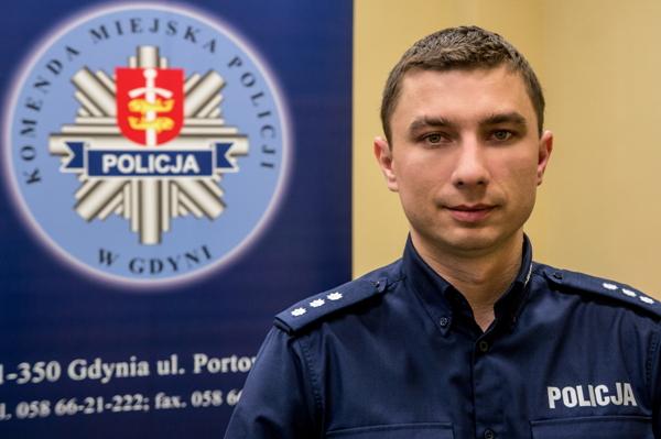 podkom. Krzysztof Kuśmierczyk - Rzecznik Prasowy Komendanta Miejskiego Policji w Gdyni